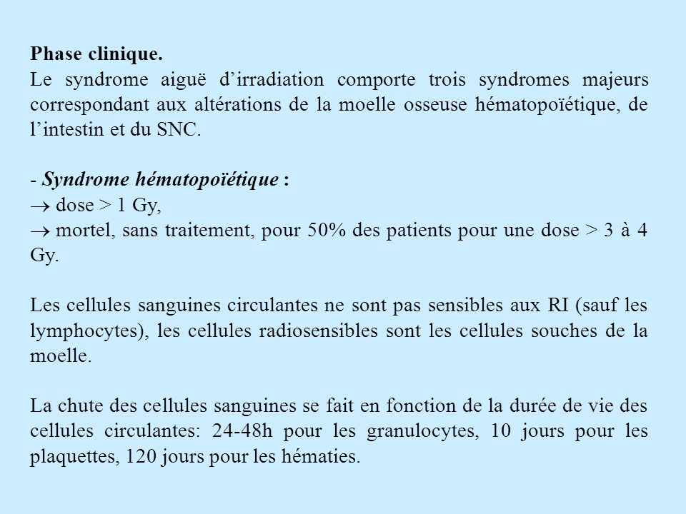 Phase clinique.