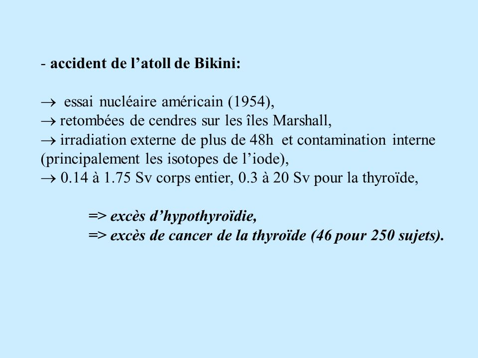 accident de l'atoll de Bikini: