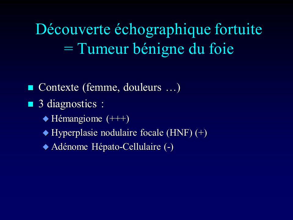 Découverte échographique fortuite = Tumeur bénigne du foie