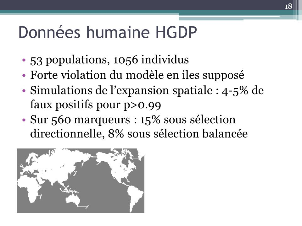 Données humaine HGDP 53 populations, 1056 individus