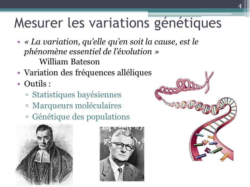 Mesurer les variations génétiques