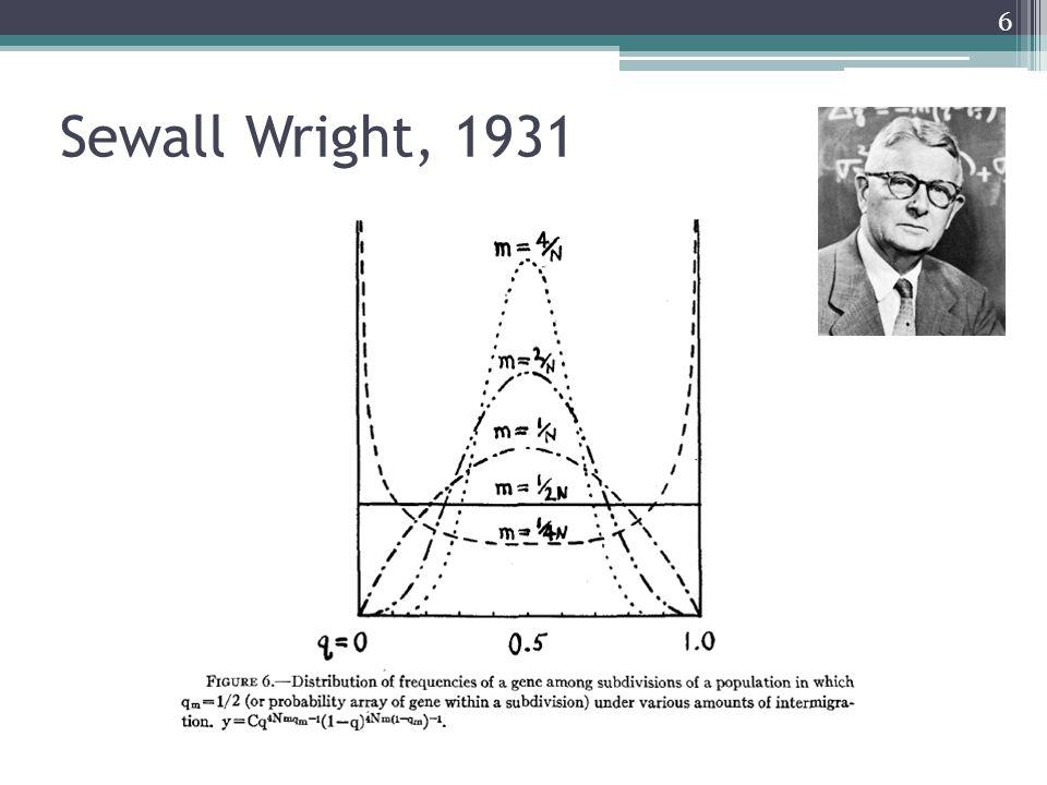 Sewall Wright, 1931