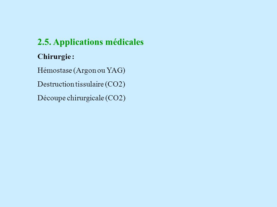 2.5. Applications médicales