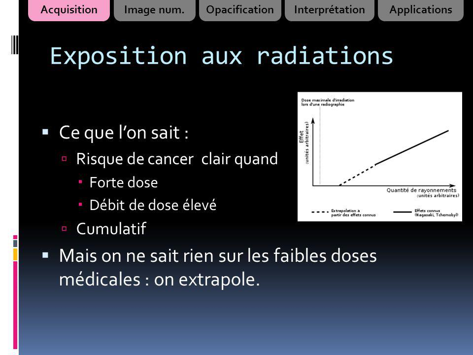 Exposition aux radiations