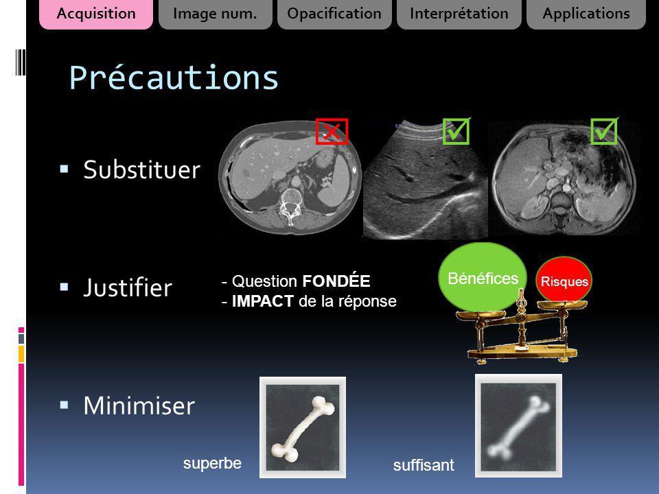 Précautions    Substituer Justifier Minimiser Acquisition
