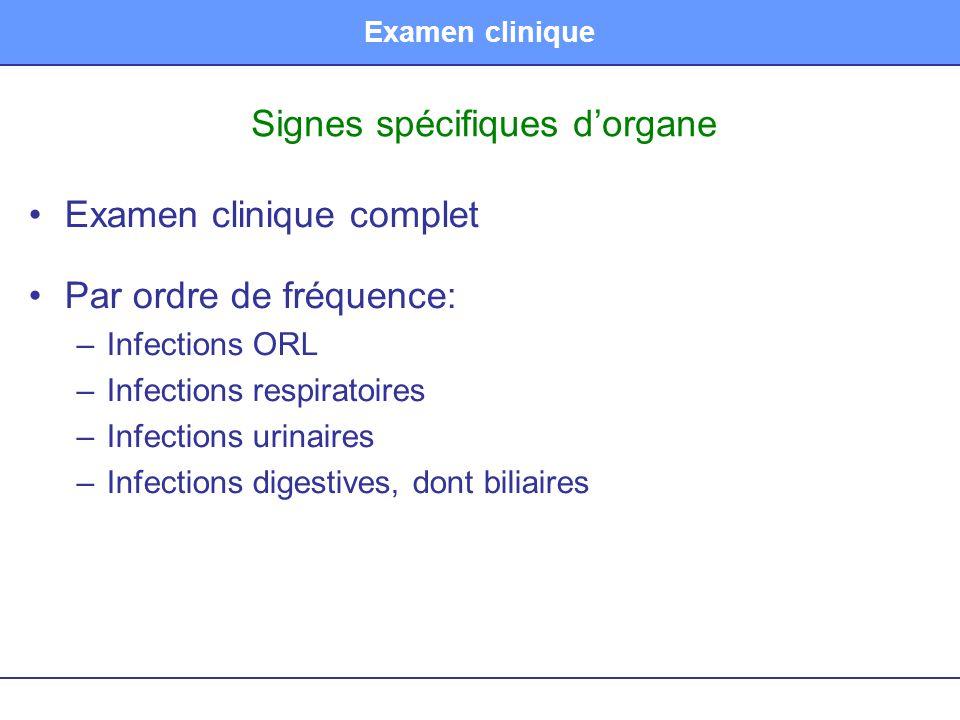 Signes spécifiques d'organe