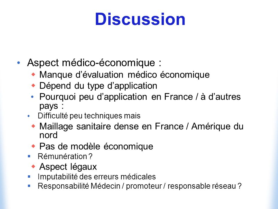 Discussion Aspect médico-économique :