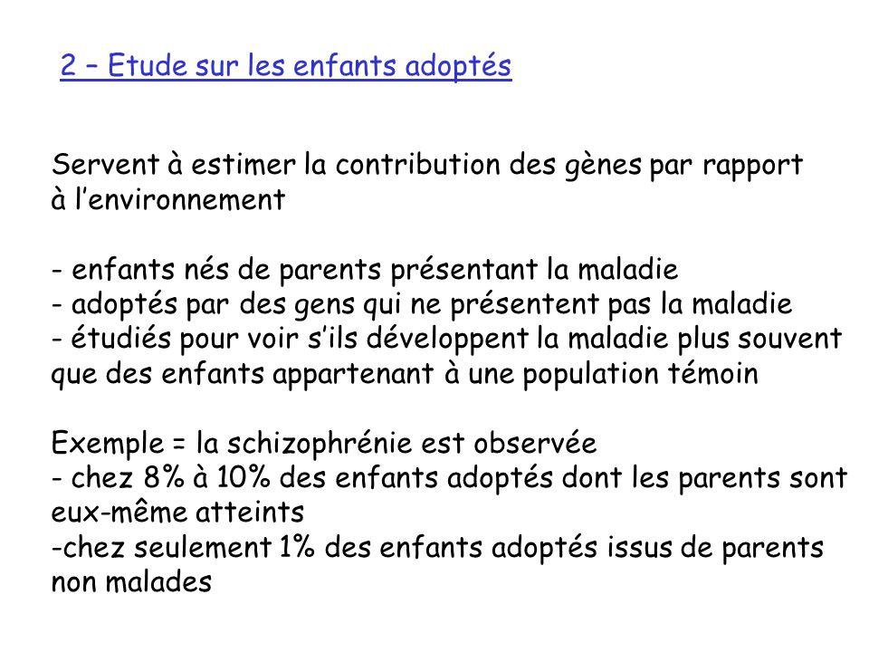 2 – Etude sur les enfants adoptés