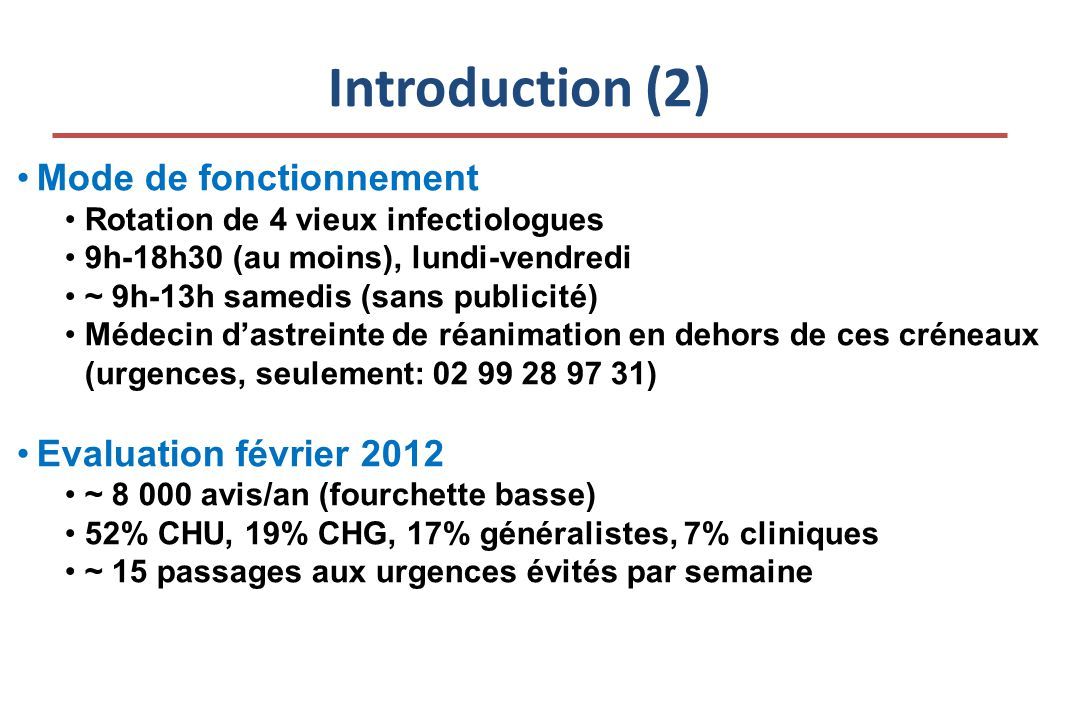 Introduction (2) Mode de fonctionnement Evaluation février 2012