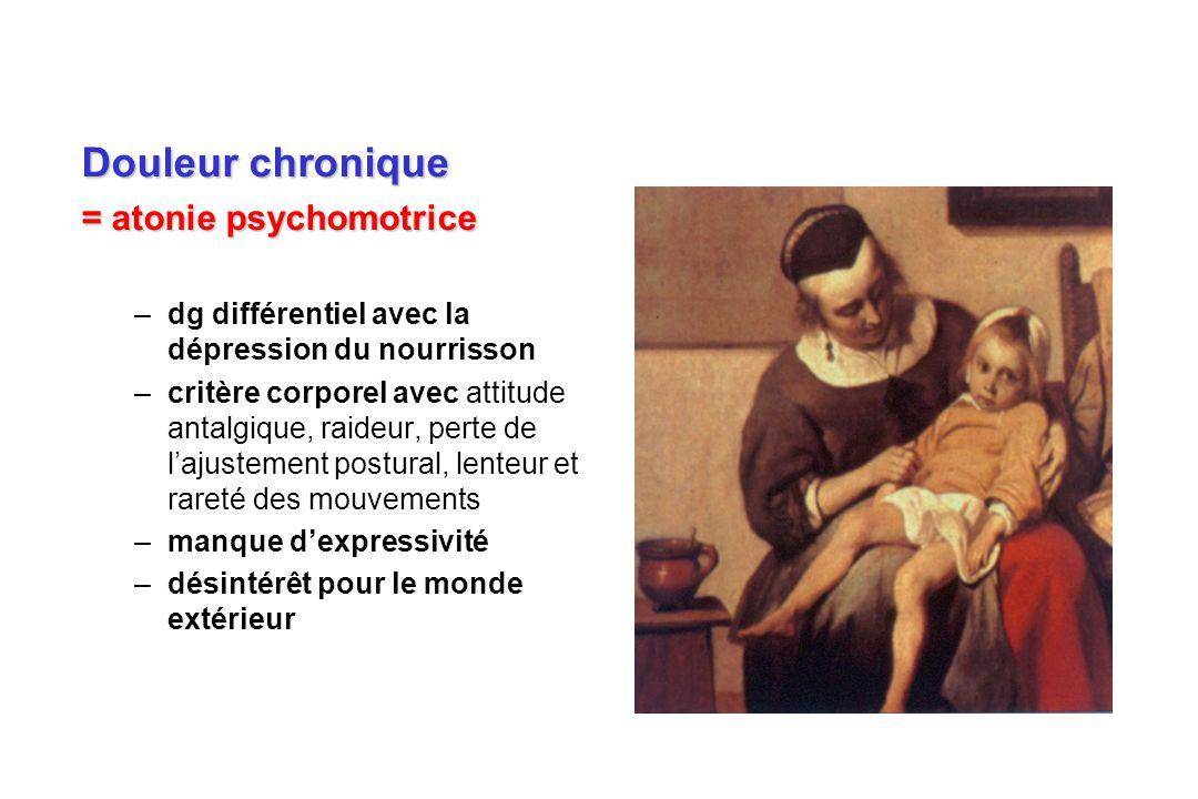 Douleur chronique = atonie psychomotrice