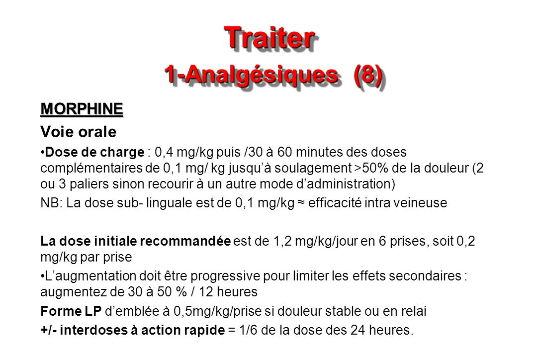 Traiter 1-Analgésiques (8)