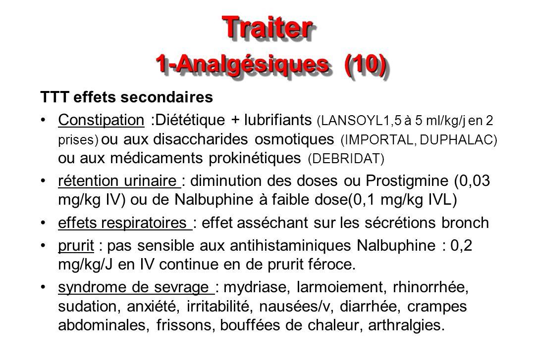 Traiter 1-Analgésiques (10)