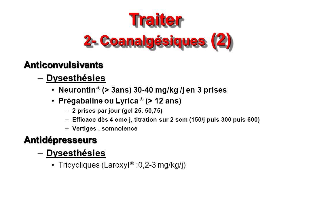 Traiter 2- Coanalgésiques (2)