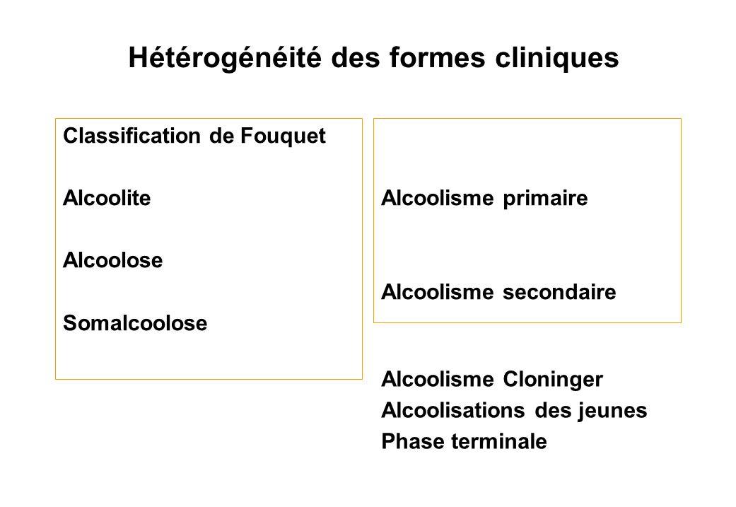 Hétérogénéité des formes cliniques