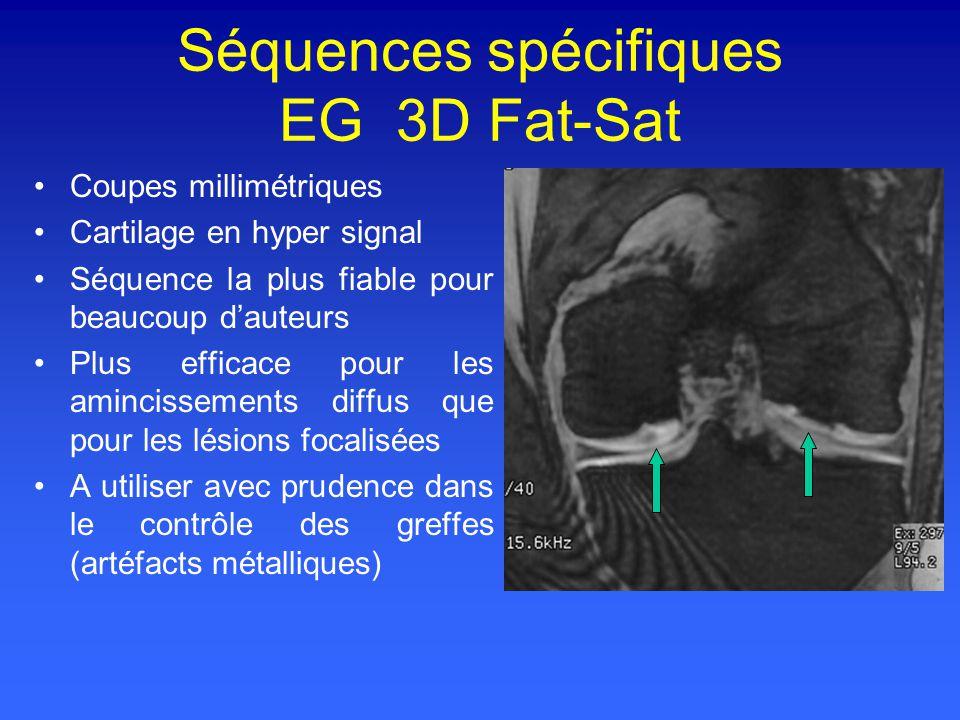 Séquences spécifiques EG 3D Fat-Sat