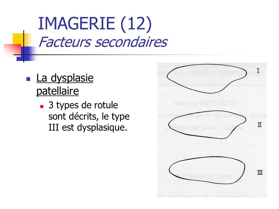 IMAGERIE (12) Facteurs secondaires