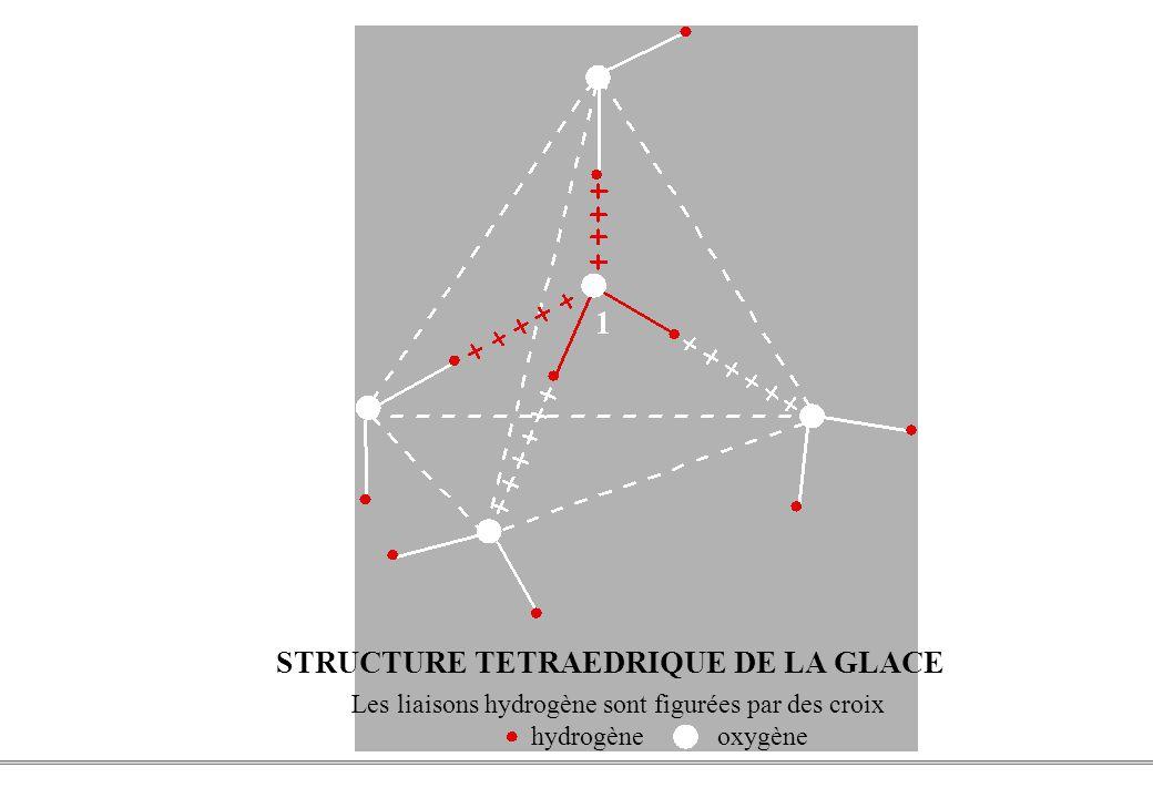 STRUCTURE TETRAEDRIQUE DE LA GLACE