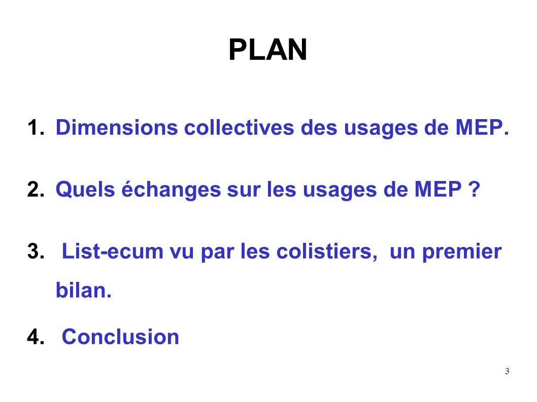 PLAN Dimensions collectives des usages de MEP.