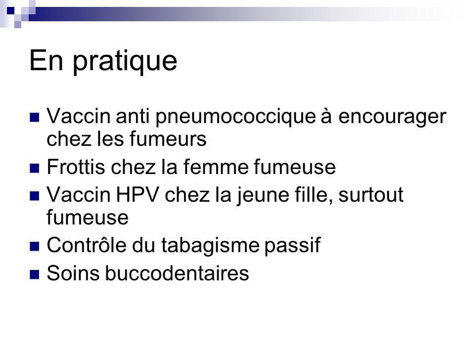 En pratique Vaccin anti pneumococcique à encourager chez les fumeurs