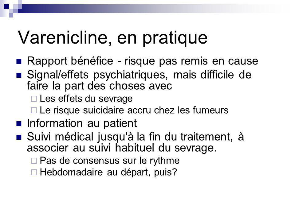 Varenicline, en pratique