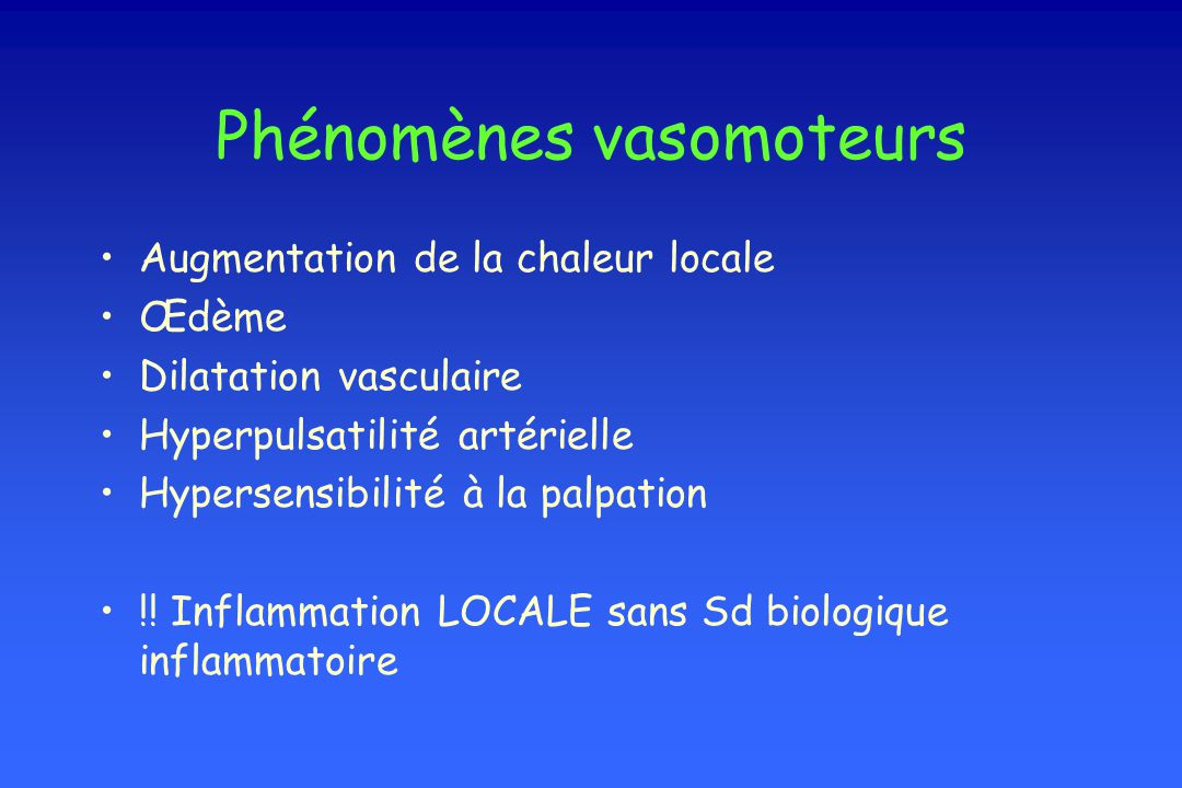 Phénomènes vasomoteurs