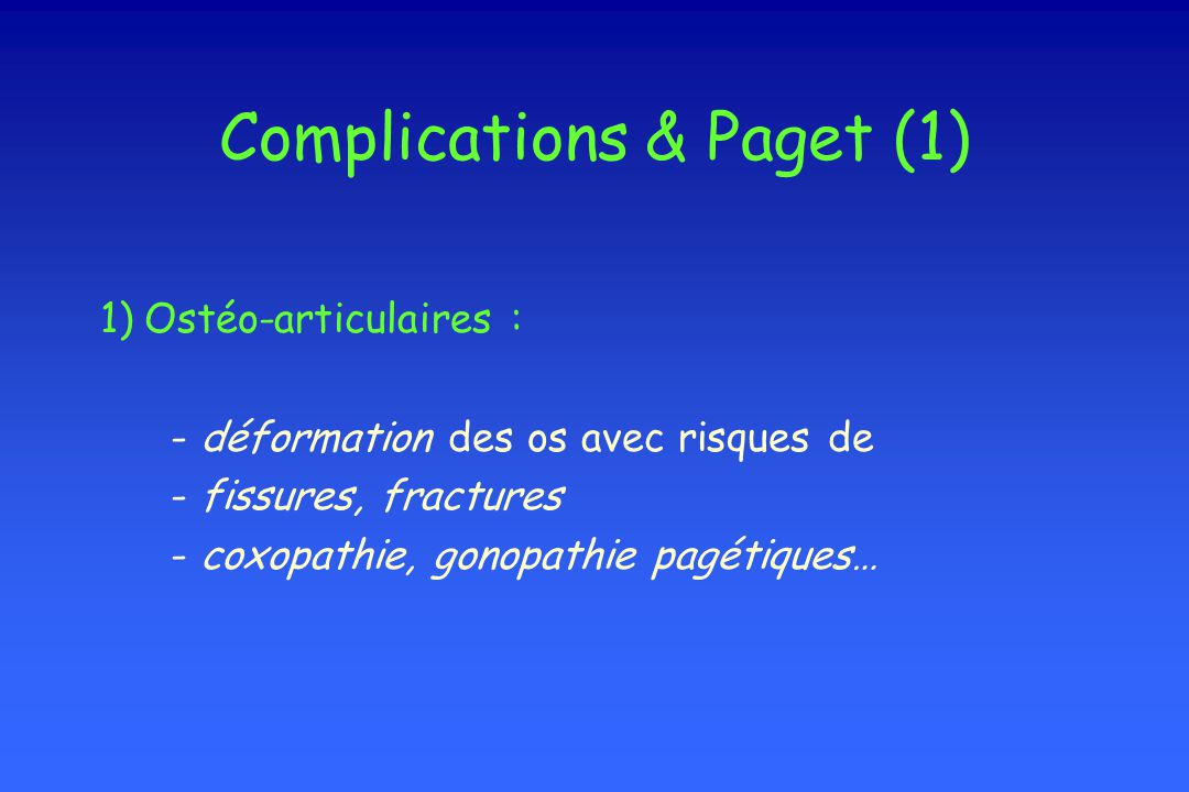 Complications & Paget (1)