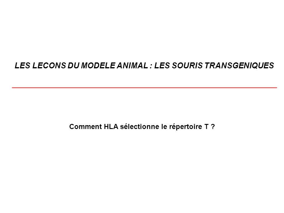 LES LECONS DU MODELE ANIMAL : LES SOURIS TRANSGENIQUES