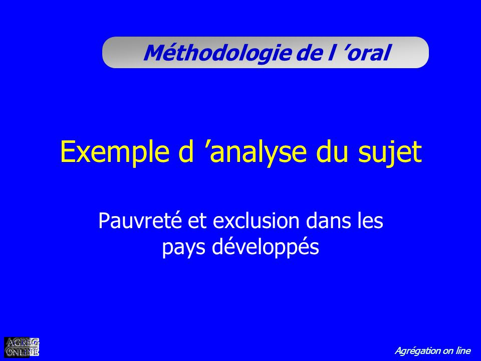 Exemple d 'analyse du sujet