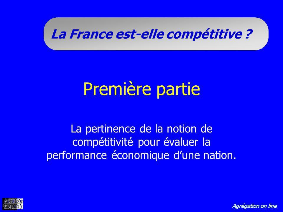 Première partie La pertinence de la notion de compétitivité pour évaluer la performance économique d'une nation.