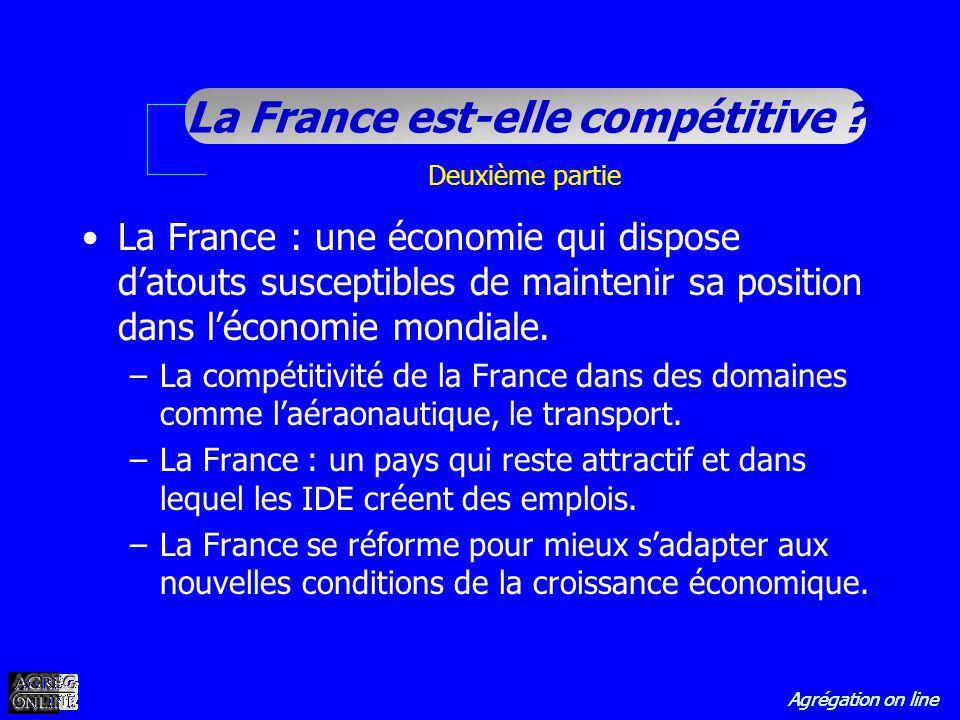 Deuxième partie La France : une économie qui dispose d'atouts susceptibles de maintenir sa position dans l'économie mondiale.
