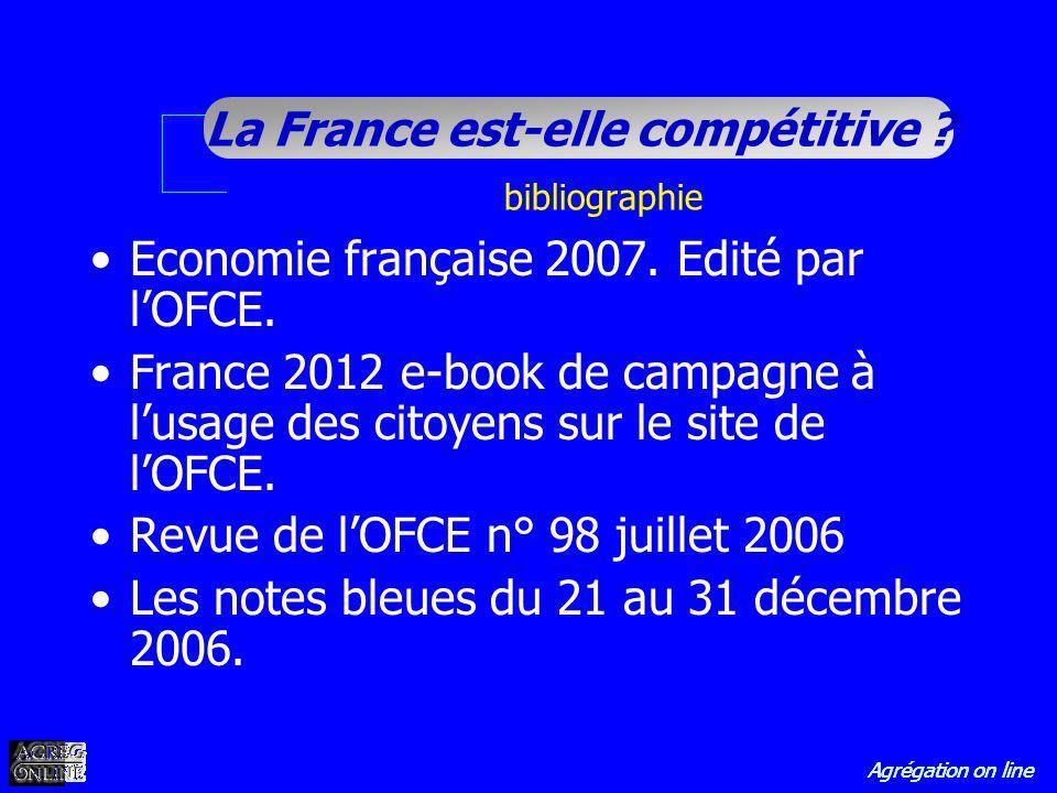 Economie française 2007. Edité par l'OFCE.