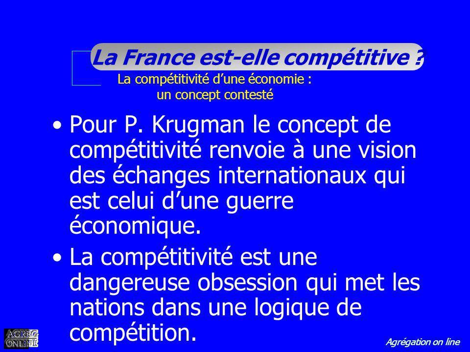 La compétitivité d'une économie : un concept contesté