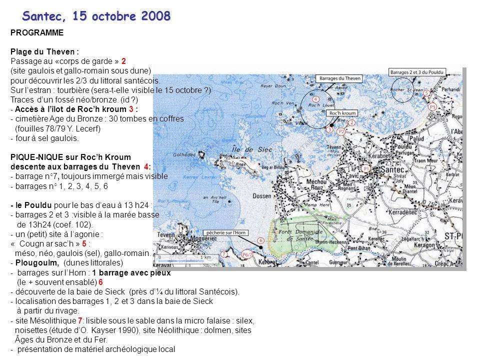 Santec, 15 octobre 2008 PROGRAMME Plage du Theven :