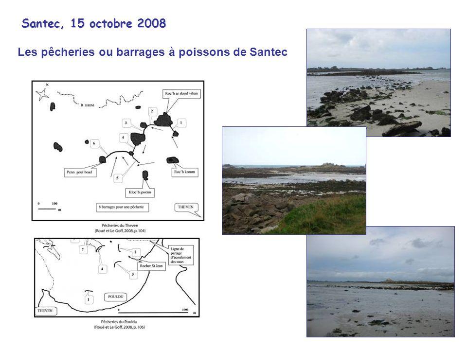 Santec, 15 octobre 2008 Les pêcheries ou barrages à poissons de Santec