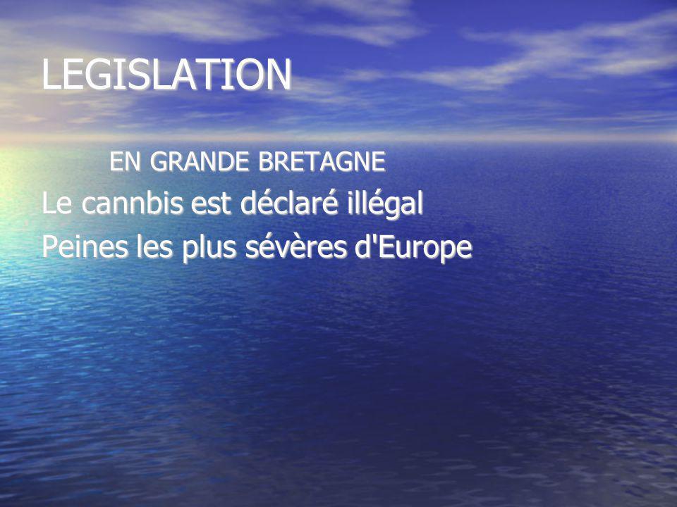 LEGISLATION Le cannbis est déclaré illégal