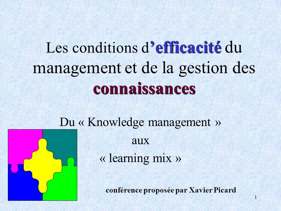 Du « Knowledge management »
