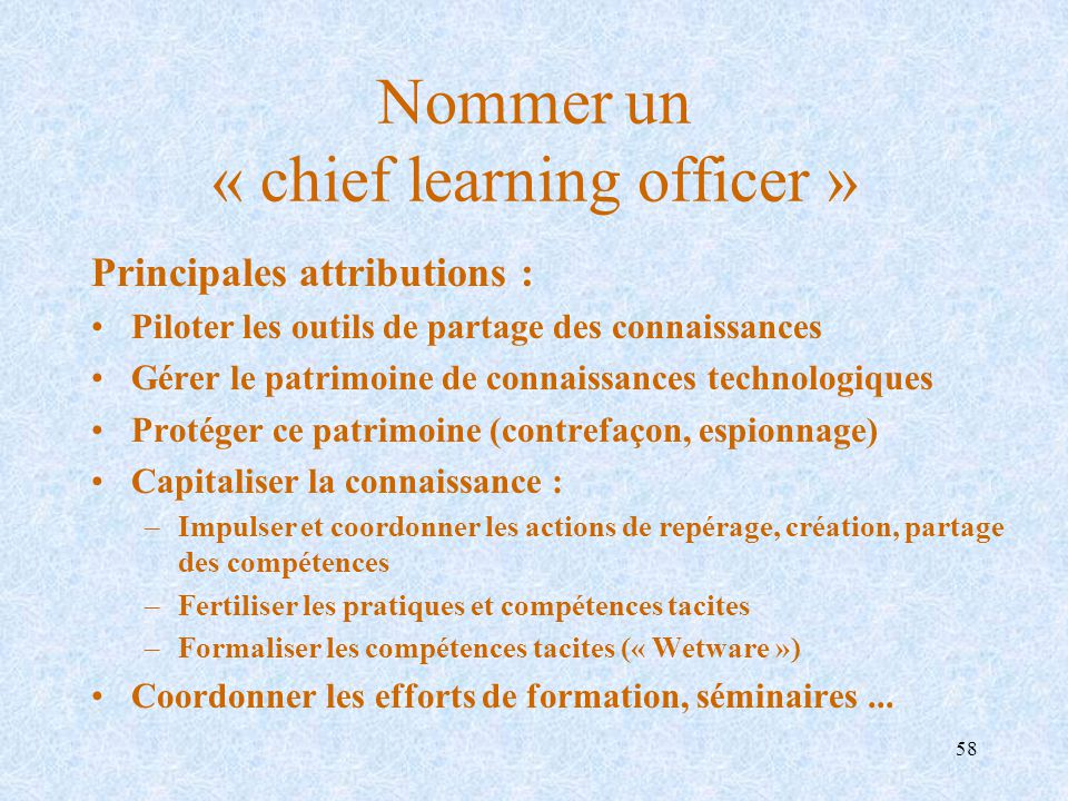 Nommer un « chief learning officer »