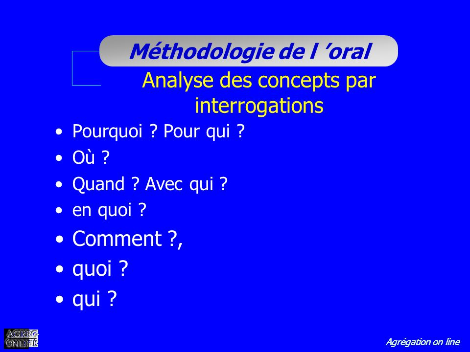 Analyse des concepts par interrogations