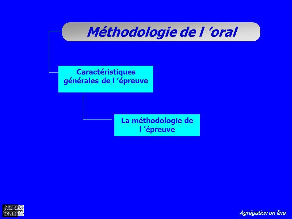 Caractéristiques générales de l 'épreuve La méthodologie de l 'épreuve