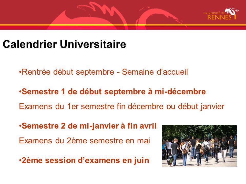 Calendrier Universitaire