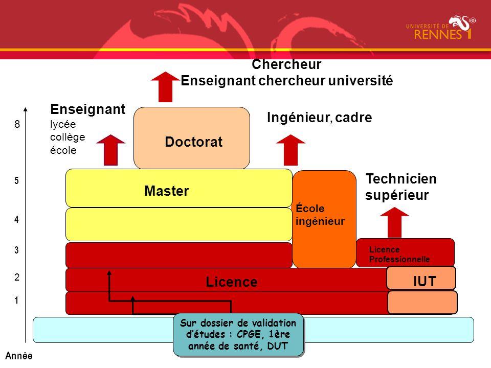 Bac Chercheur Enseignant chercheur université Enseignant