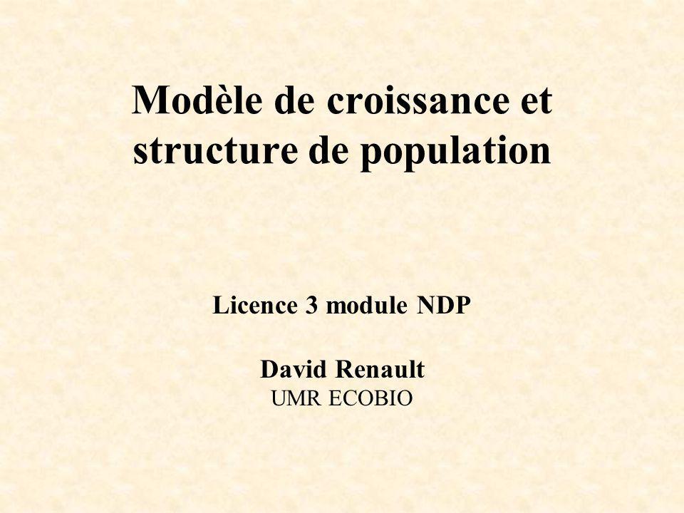 Modèle de croissance et structure de population
