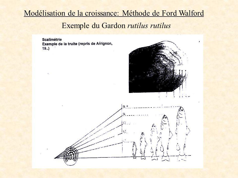 Modélisation de la croissance: Méthode de Ford Walford