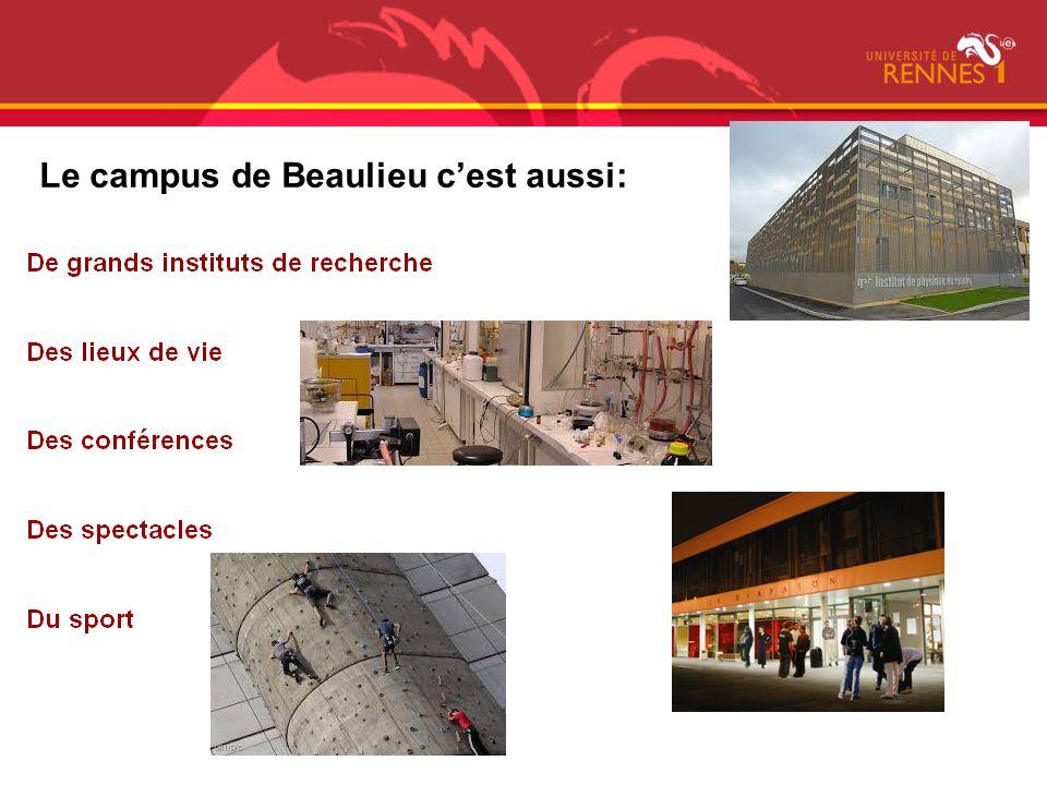 Le campus de Beaulieu c'est aussi: