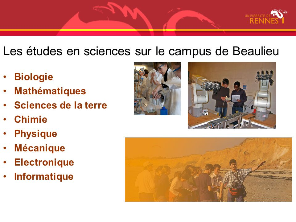 Les études en sciences sur le campus de Beaulieu