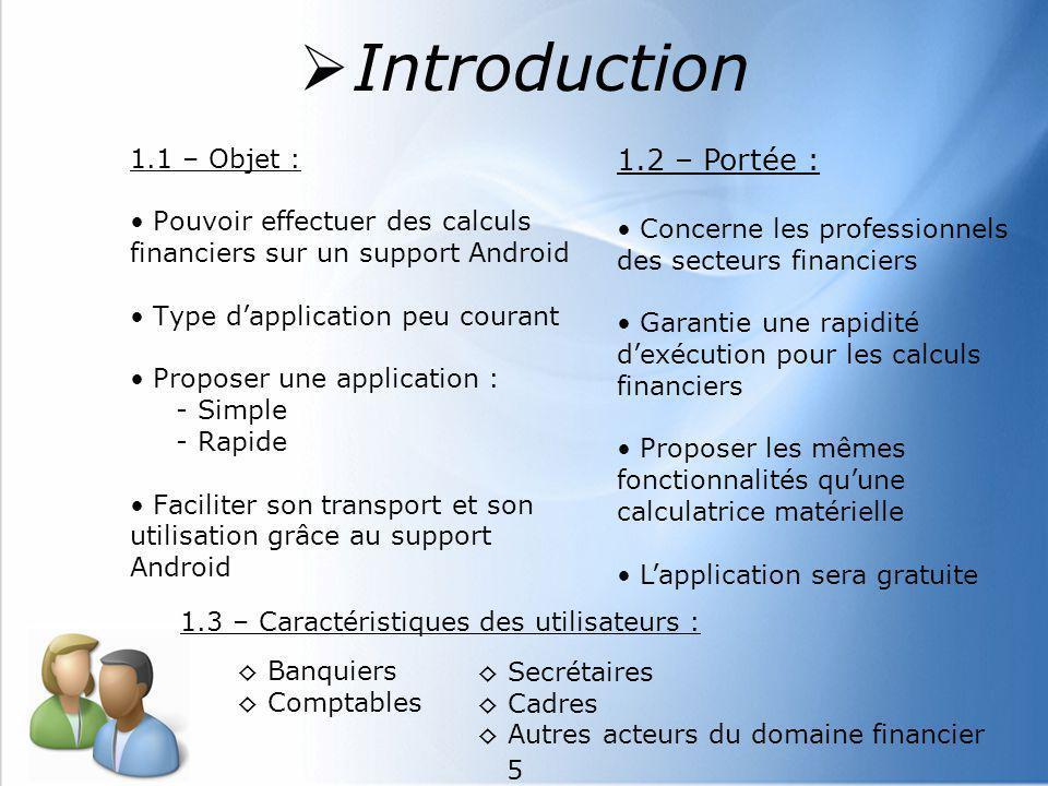 Introduction 1.2 – Portée : 1.1 – Objet :
