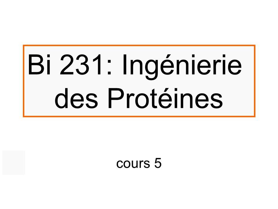 Bi 231: Ingénierie des Protéines