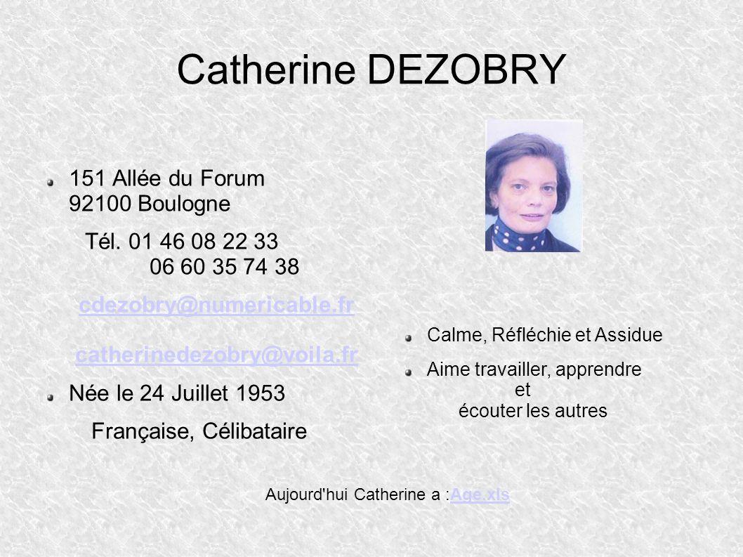 Aujourd hui Catherine a :Age.xls