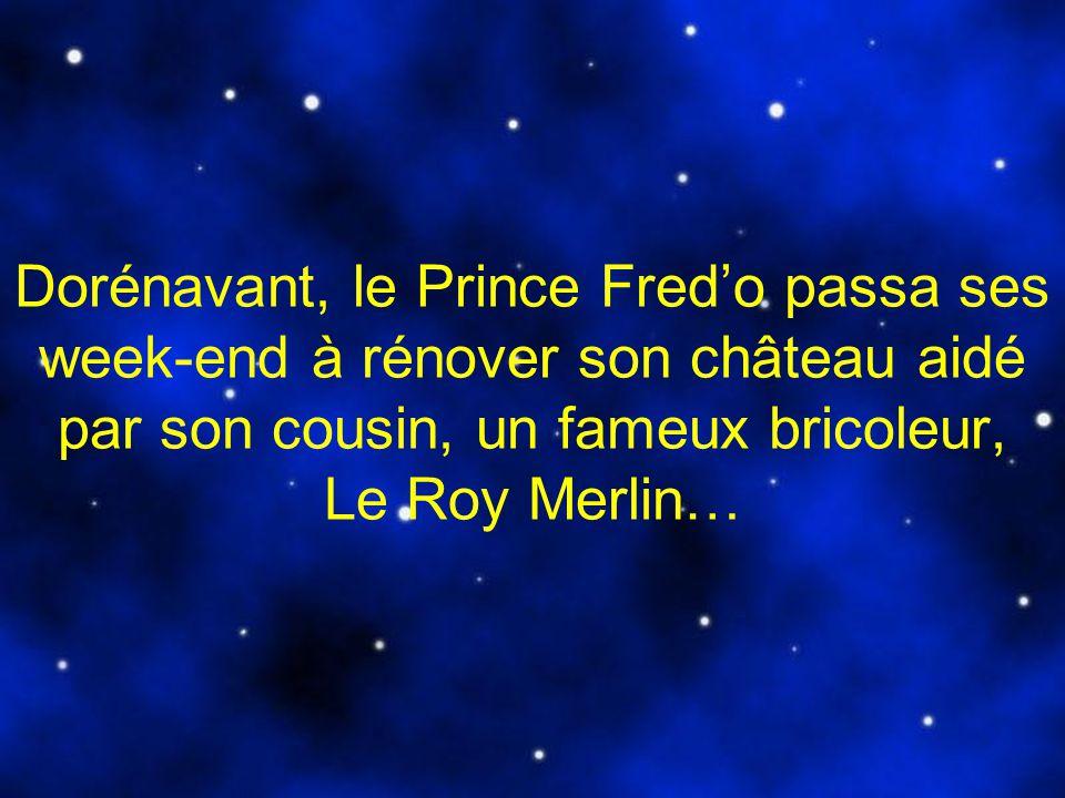 Dorénavant, le Prince Fred'o passa ses week-end à rénover son château aidé par son cousin, un fameux bricoleur, Le Roy Merlin…
