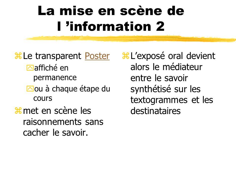 La mise en scène de l 'information 2
